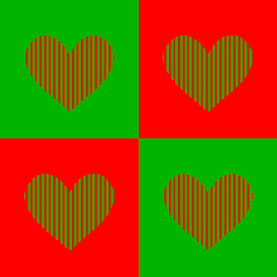 Red Hearts And Green Hearts