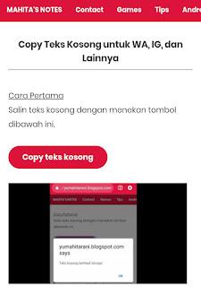 blank text generator copy teks kosong untuk ig instagram