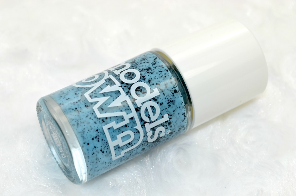 Easter effect speckled nail polish in blue