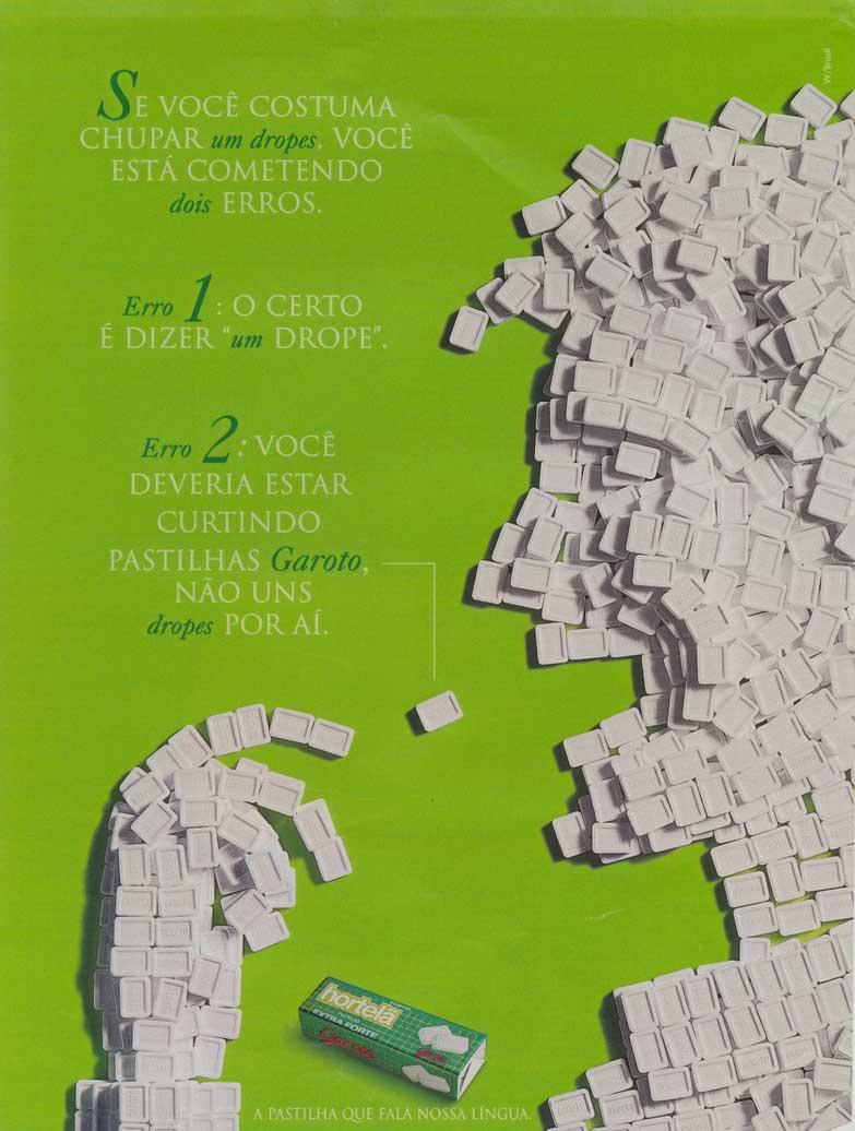 Propaganda antiga da pastilha de Hortelã da Garoto veiculada em 1995