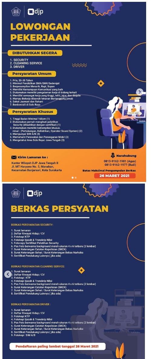 Tenaga Honorer DJP Direktorat Jenderal Pajak Indonesia Tingkat SMA SMK Tahun 2021