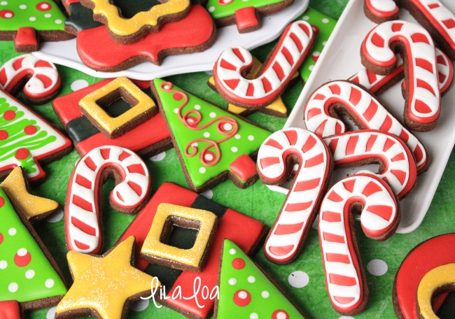 Decorated Candy Cane Cookies Cookies And Cards