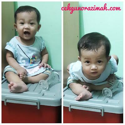 dhia zahra, ragam anak, bayi umur setahun, ragam bayi setahun