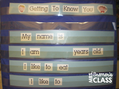 Beginning of the Year Getting to Know You activities for Kindergarten, including an All About Me chart and a name practice freebie! #backtoschool #allaboutme #kindergarten #freebies #names