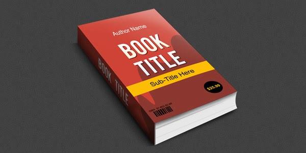 3D Book Mockup PSD