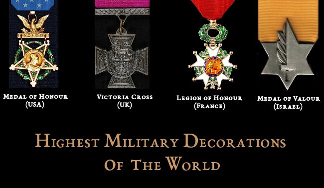 Highest Military Decorations of  the World