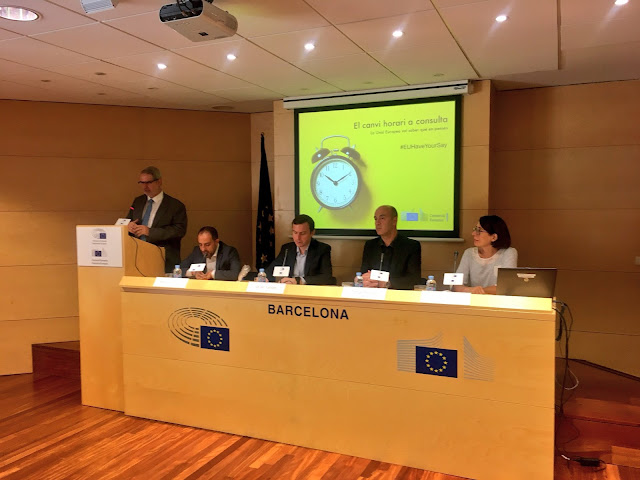 Esguard de Dona - Debat sobre el canvi climàtic a la Seu de la Comissió Europea de Barcelona.