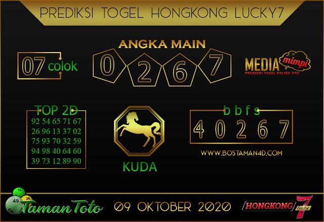 Prediksi Togel HONGKONG LUCKY 7 TAMAN TOTO 09 OKTOBER 2020