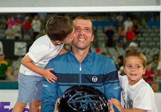 Gilles Muller With His Children Jpeg