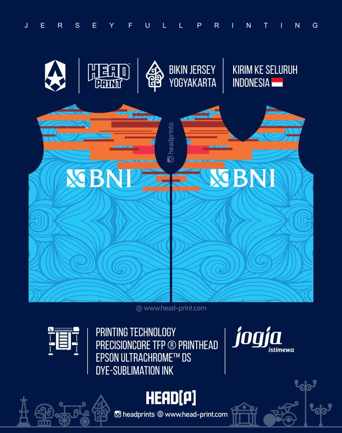 BNI Jersey Voly Volley Contoh Desain Jersey Voly - Badminton Jersey - Futsal Jersey - Headprint Yogyakarta