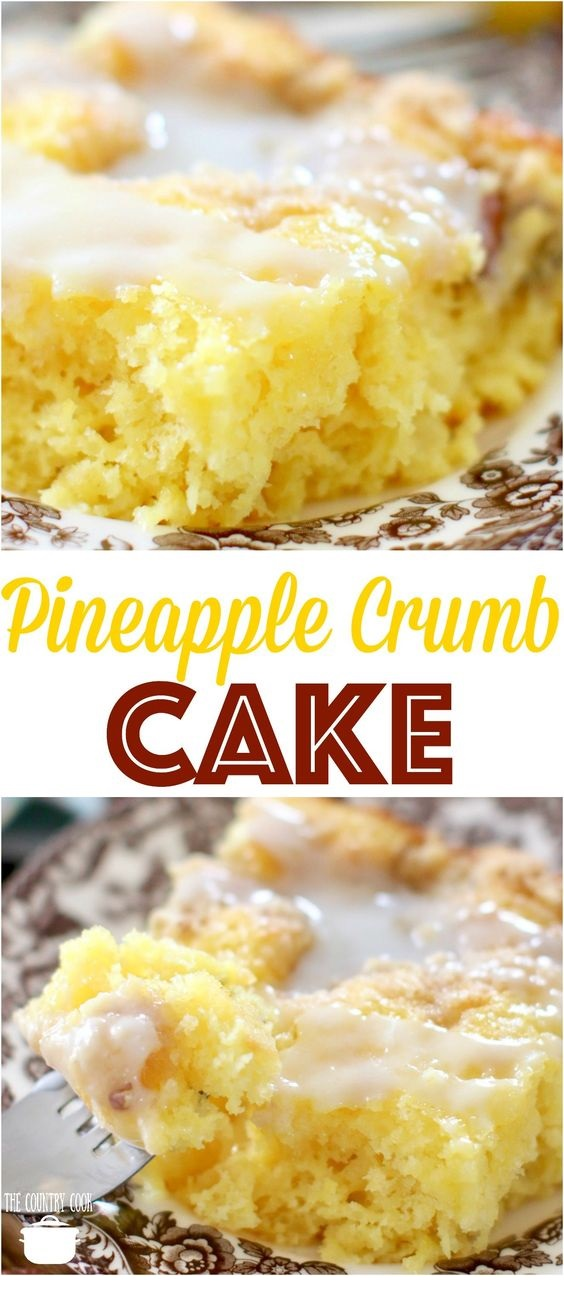 Easy Pineapple Crumb Cake