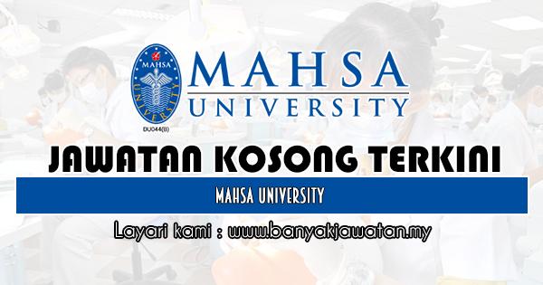 Jawatan Kosong 2019 di MAHSA University