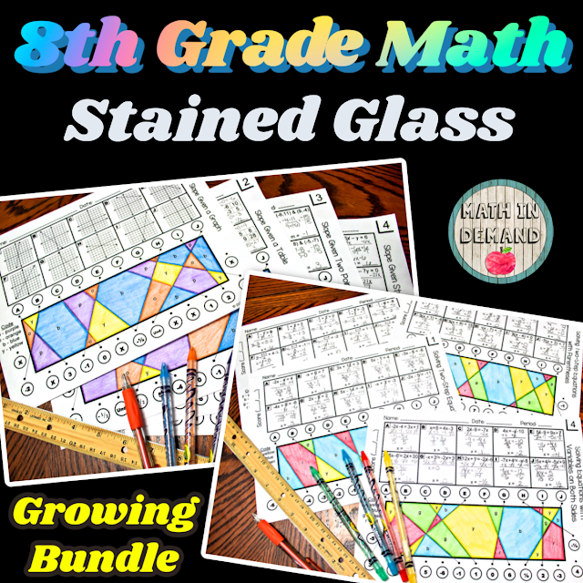 8th Grade Math Stained Glass Activities