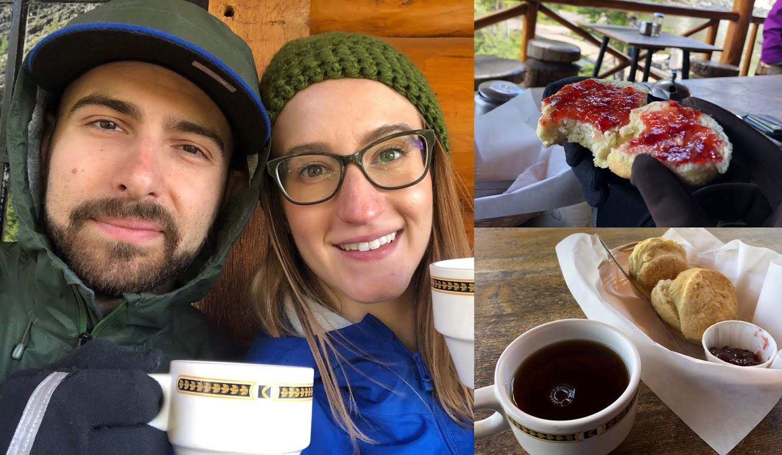 Tea and scones at the Lake Agnes Tea House