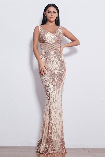 long mermaid evening dress
