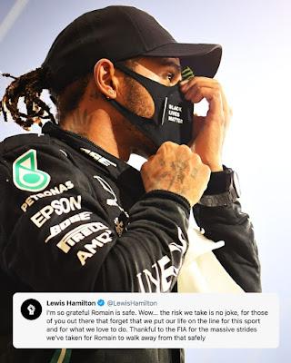 Lewis Hamolton about Romain Grosjean crash