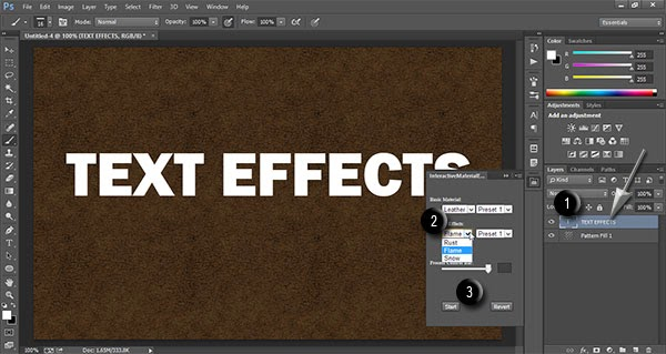 Steps to Use Free Photoshop Extension InteractiveMaterialEffects
