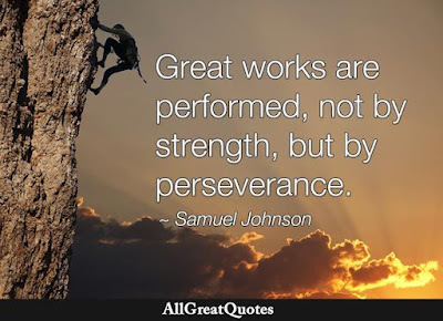 Great works are performed by perseverance
