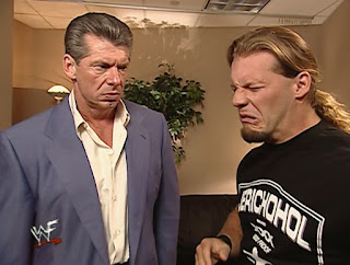 WWE / WWF Invasion 2001 PPV - Chris Jericho tells Vince McMahon how disgusting ECW was