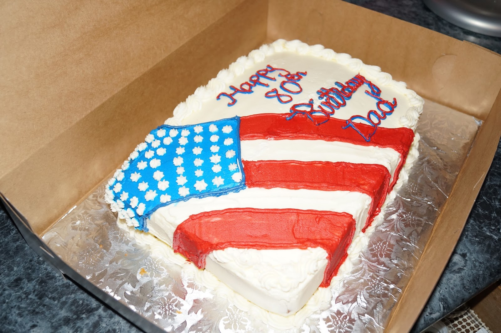 This 80 Year Old Man Is A Retired From The Air Force So I Hand Piped American Flag On Cake With Buttercream Frosting Itself Vanilla