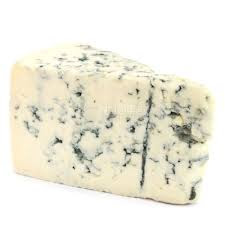 white and blue marbled Gorgonzola.