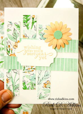 Wishing You Your Best Year Simple Sunday SIP Card!  Click here to find out all the details to make this #simplestamping card with stamps ink and paper