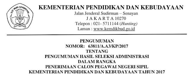Nama-Nama yang Lulus Seleksi Administrasi-CPNS Kemendikbud Tahun 2017 https://riviewfile.blogspot.co.id/