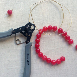 Materials used with the 1 step looper pliers to make a bracelet - only one tool?!