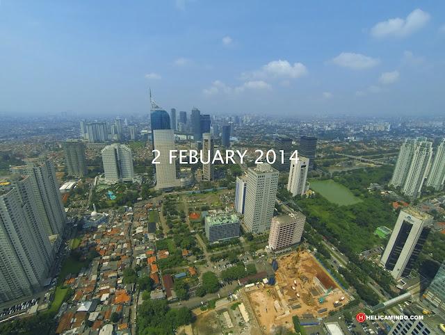 Foto Udara Kawasan Sudirman Jakarta Tahun 2014