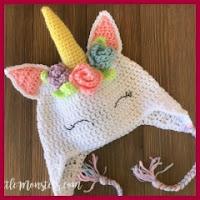 Gorro unicornio a crochet