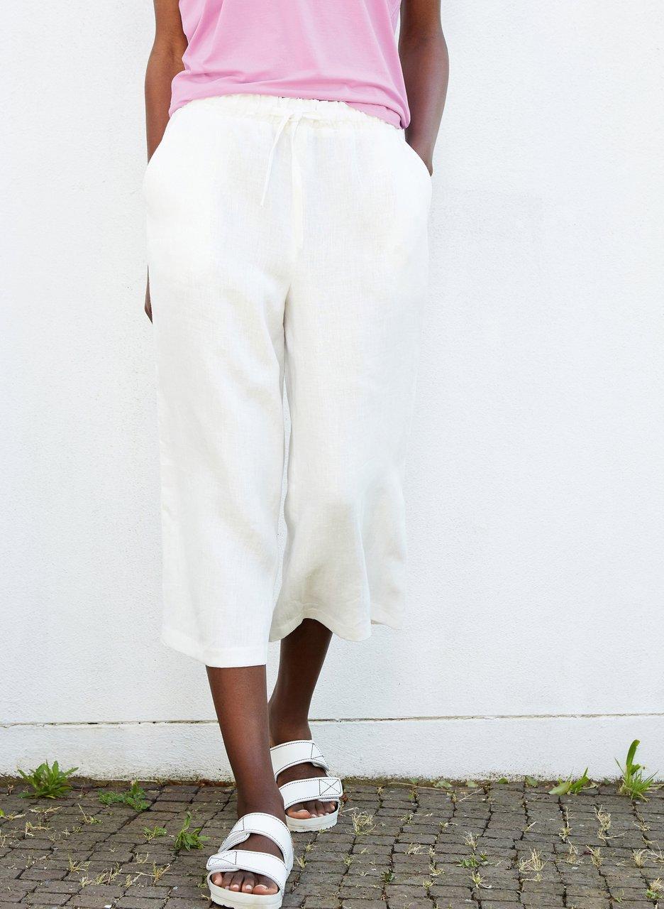 my midlife fashion, Baukjen Helena hemp cropped trouser