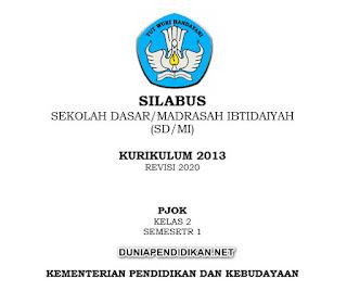 Silabus PJOK Kelas 2 SD/MI Semester 1 K13 Revisi 2021