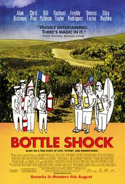 The Bottle Shock Movie about Château Montelena in Napa California winning the Judgement of Paris in 1976 starring Chris Pine and Alan Rickman