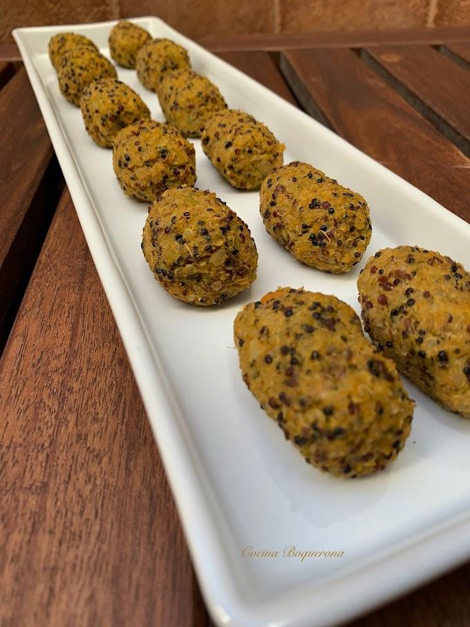Croquetas de quinoa, boniato, brócoli y coliflor