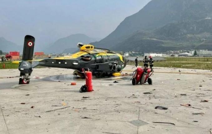 Bolzano, l'esercitazione con l'elicottero della GdF finisce male
