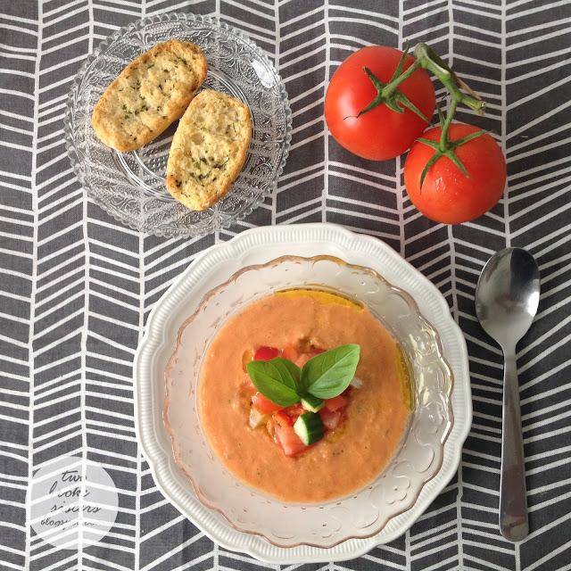 przepis na gazpacho blog kulinarny twobrokesisters