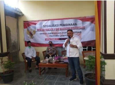 Sahlan Syukur Gelar Sosialisasi Pembinaan Idiologi Pancasila dan Wawasan Kebangsaan