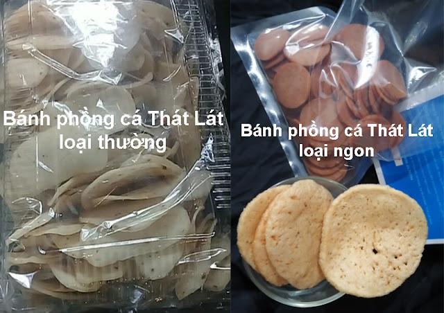 Cách phân biệt bánh phồng cá Thát Lát loại thường và loại ngon