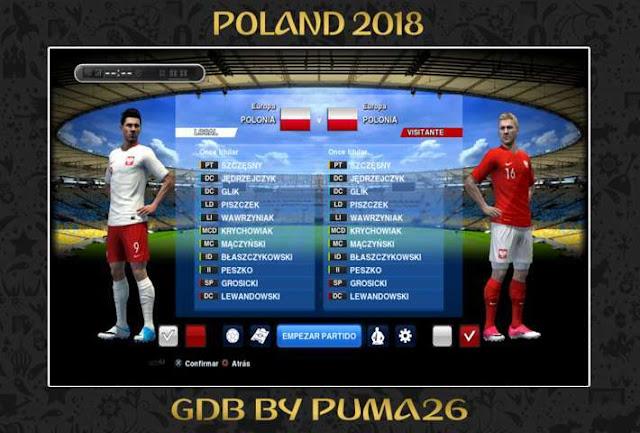 Poland 2018 Kits PES 2013