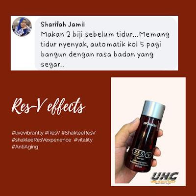 Kebaikan supplement ResV untuk tingkatkan tenaga wanita