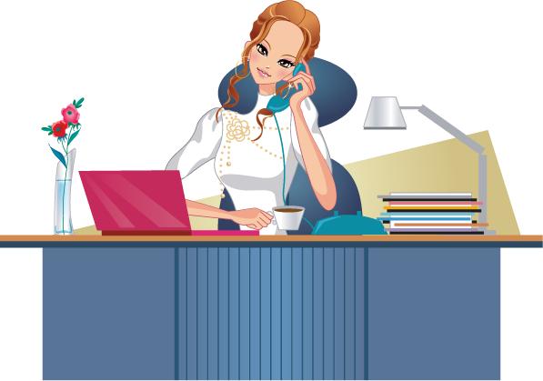 Negocios,mujer trabajadora imagenes vectoriales - Business, Working ...