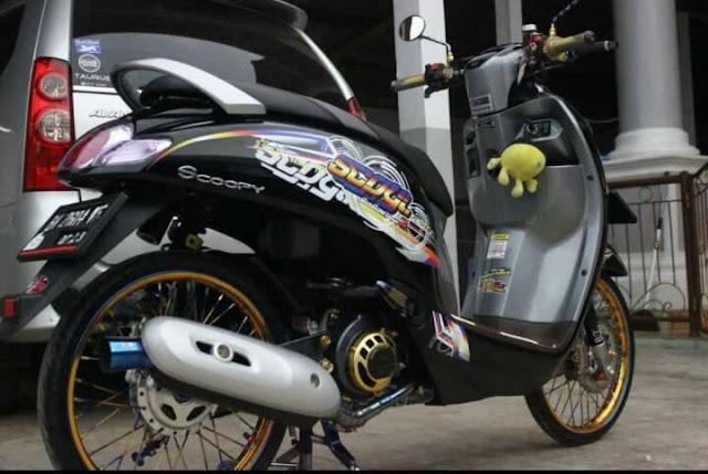 Gambar Modifikasi Motor Scoopy Terbaru 2019 Keren Thailook & Babylook