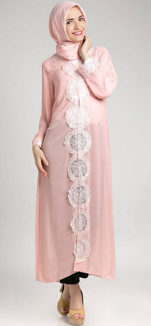 Model Baju Dress Panjang Muslim Modern