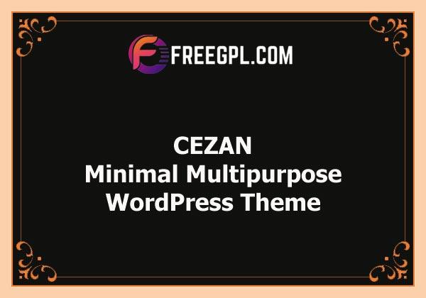 CEZAN - Minimal Multipurpose WordPress Theme Nulled Download Free