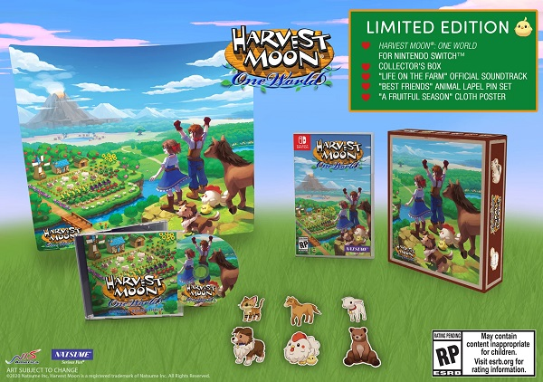 Harvest Moon One World Limited Edition Game Cover