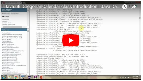 JAVA EE: Java util GregorianCalendar class Introduction | Java Date