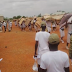 Corpers made to carry their beds on their head and march around for waking up late(SEE PHOTOS)