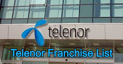 Telenor Franchise List All over Pakistan - telenor franchise near me