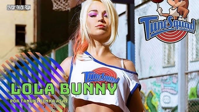 Tanuki Tinka Asai con su cosplay de Lola Bunny