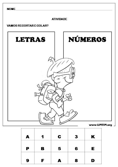 Atividade para turmas de Alfabetização Inicial